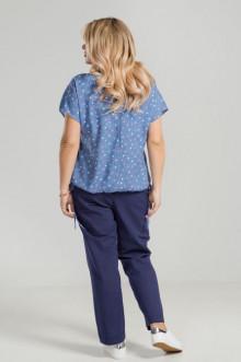 Блуза 885 Luxury Plus (Синий)